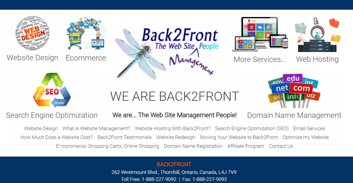 Back2Front - The Web Site People: Fully Managed Web Site Service