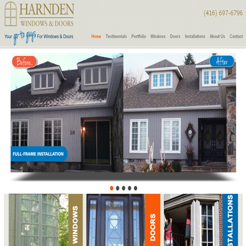Back2Front Portfolio Client - Harnden Windows & Doors Ltd.